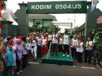 KODIM 0504/JS Adakan Jalan Sehat Untuk Meriahkan HUT TNI ke 74